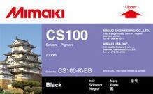 Сольвентные чернила CS100 2000 мл Mimaki CS100-K-BB-1 Black