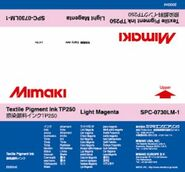 Текстильные чернила TP250 пигментные 2000 мл Mimaki SPC-0730LM-1 Light Magenta
